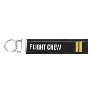 Flight Crew 2 Bar Gold Epaulettes Wrist Keychain