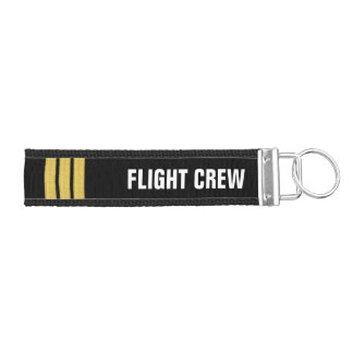 Flight Crew 3 Bar Gold Epaulettes Wrist Keychain