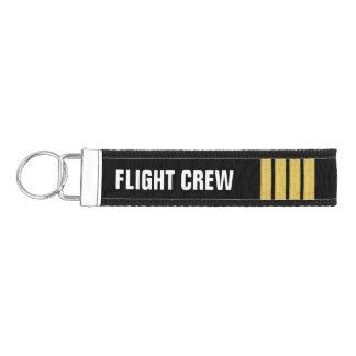 Flight Crew 4 Bar Gold Epaulettes Wrist Keychain