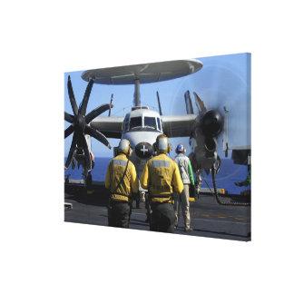 Flight deck directors canvas print