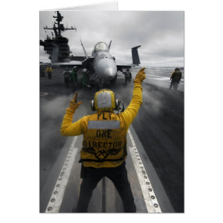 Flight Deck of Aircraft Carrier Stationery Note Card