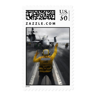 Flight Deck of Aircraft Carrier Postage