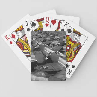 Flight Deck, USS CASABLANCA_War Image Poker Cards
