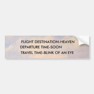 FLIGHT DESTINATION Bumper Sticker