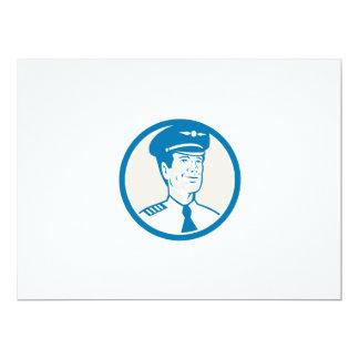 Flight Engineer Navigator Circle Retro 17 Cm X 22 Cm Invitation Card