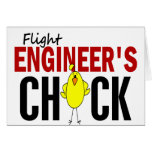 Flight Engineer's Chick Greeting Card