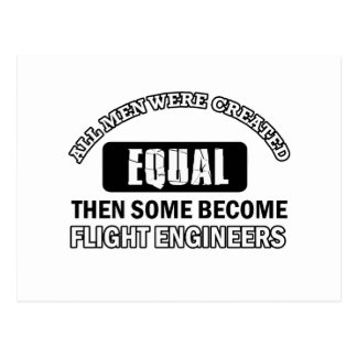Flight Engineers Designs Postcard