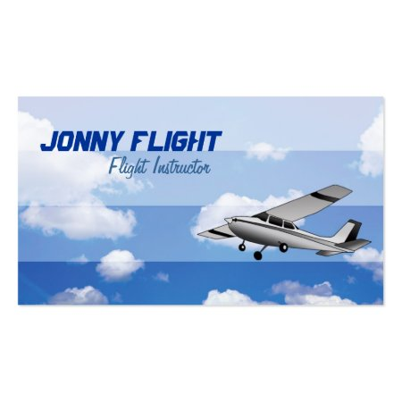 Creative Plane Flight Instructor Business Cards