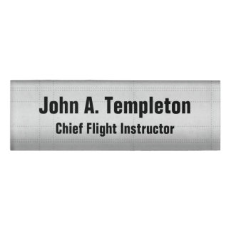 Flight Instructor Name Tag