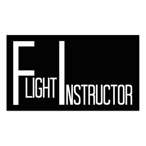 Flight Instructor Word Business Card
