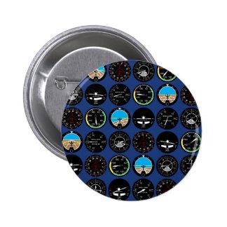 Flight Instruments Pinback Buttons