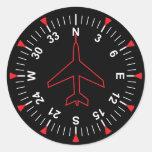Flight Instruments Classic Round Sticker