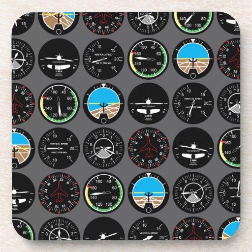 Flight Instruments Drink Coaster