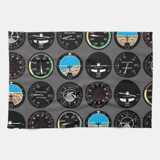 Flight Instruments Towels