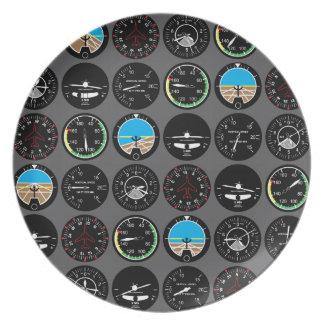 Flight Instruments Melamine Plate