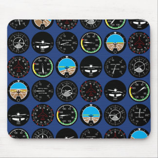 Flight Instruments Mouse Pad
