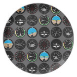 Flight Instruments Party Plates