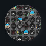 """Flight Instruments Round Clock<br><div class=""""desc"""">All the flight instruments you need to fly!</div>"""