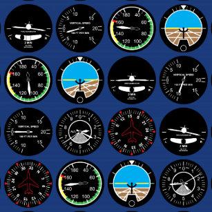 Airplane Instruments Stickers | Zazzle