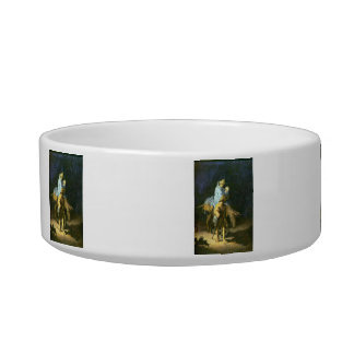 Flight into Egypt by Rembrandt Cat Food Bowls