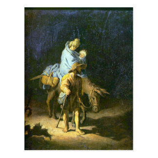 Flight into Egypt by Rembrandt Postcard