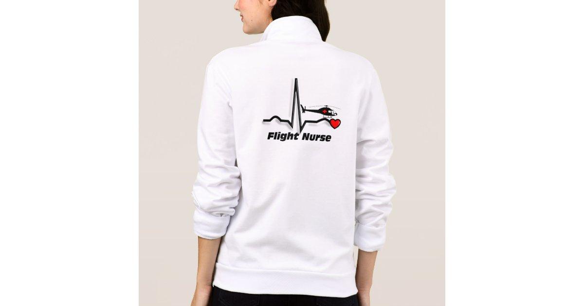 Flight Nurse Fleece Zip Jogger Jacket Zazzle