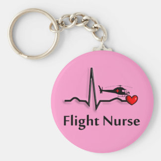 Flight Nurse QRS & Helicopter Design Keychain