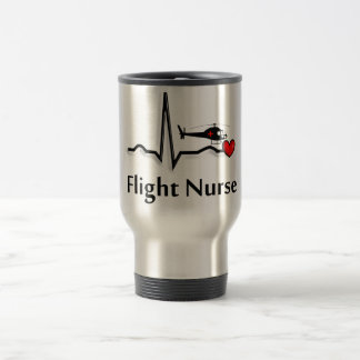Flight Nurse QRS & Helicopter Design Travel Mug
