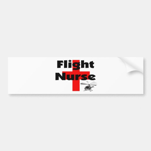 """Flight Nurse"" Unique Gift Ideas Bumper Sticker"