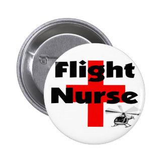 """Flight Nurse"" Unique Gift Ideas Pinback Button"