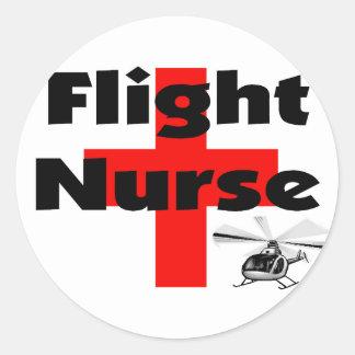 """""""Flight Nurse"""" Unique Gift Ideas Round Stickers"""