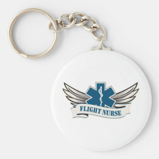 flight nurse wings keychain