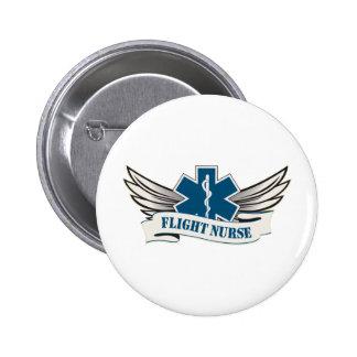 flight nurse wings pinback button