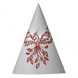 Flight of A Phoenix Silver Party Hat