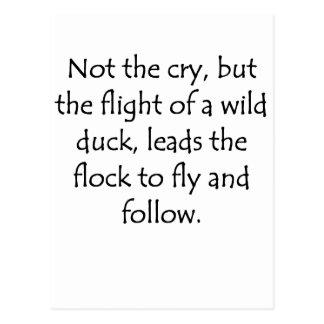 Flight of A Wild Duck Postcard