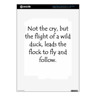 Flight of A Wild Duck Decal For iPad 3