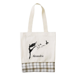Flight of Dance Zazzle HEART Tote Bag