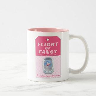 Flight of Fancy Baggage Tag Two-Tone Coffee Mug