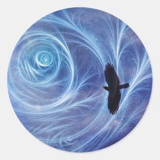 Flight of Icarus Classic Round Sticker