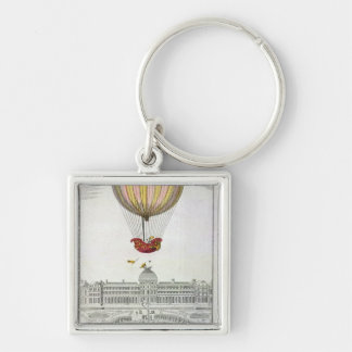 Flight of Jacques Charles  and Nicholas Robert Keychain