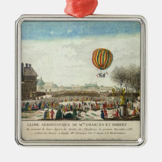 Flight of Jacques Charles  and Nicholas Robert Metal Ornament
