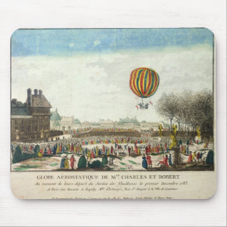 Flight of Jacques Charles  and Nicholas Robert Mouse Pad