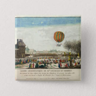 Flight of Jacques Charles  and Nicholas Robert Pinback Button