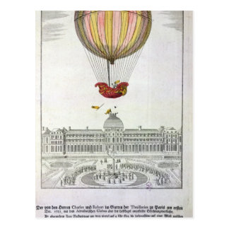 Flight of Jacques Charles  and Nicholas Robert Postcard