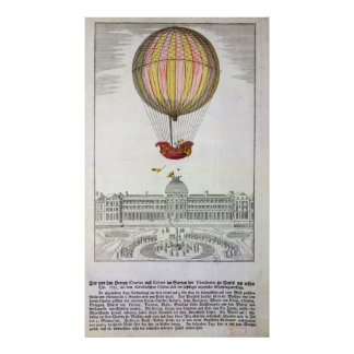 Flight of Jacques Charles  and Nicholas Robert Poster