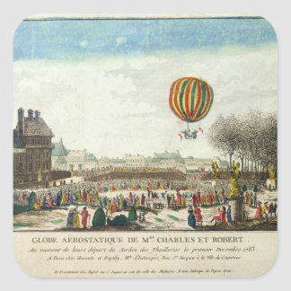 Flight of Jacques Charles  and Nicholas Robert Square Sticker
