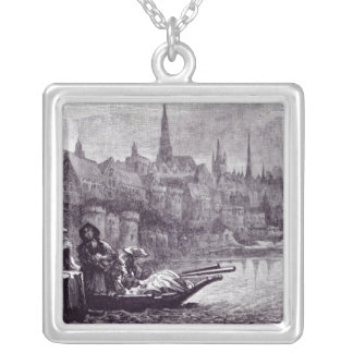 Flight of King James Silver Plated Necklace