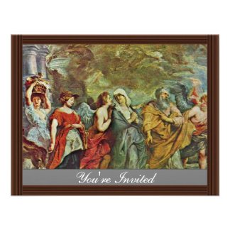 Flight Of Lot By Rubens Peter Paul (Best Quality) Personalized Invitation