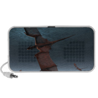 Flight of Red Dragons over the Sea Travel Speaker