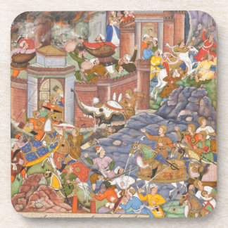 Flight of Sultan Bahadur During Humayun s Campaign Beverage Coaster